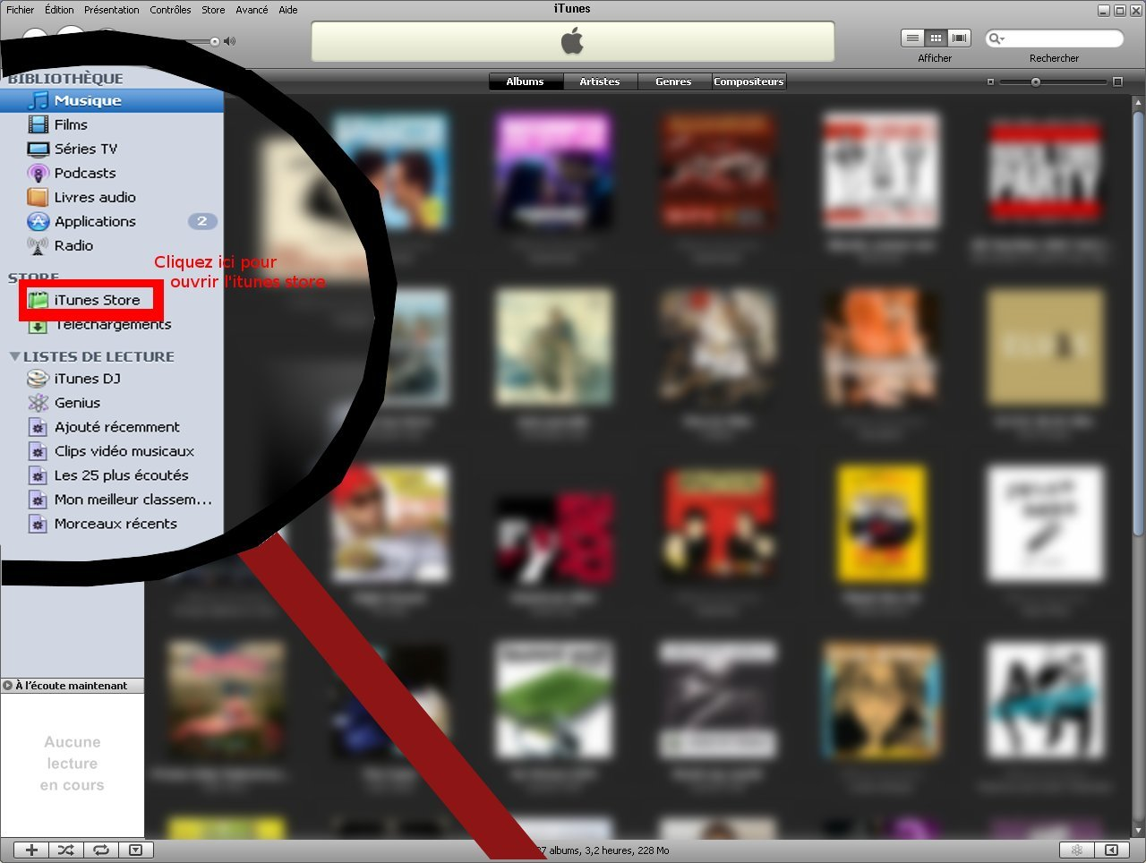 ouvrir l'itunes store
